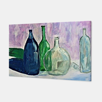 Miniatur colorful bottles Canvas, Live Heroes