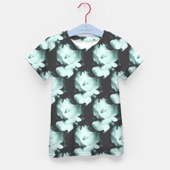 Thumbnail image of Vintage Roses Blue Pattern Kid's T-shirt, Live Heroes