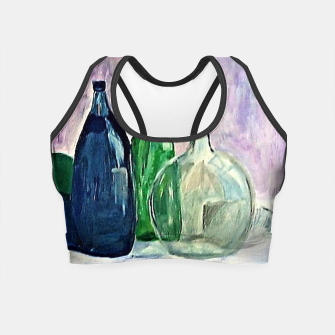 Miniatur colorful bottles Crop Top, Live Heroes