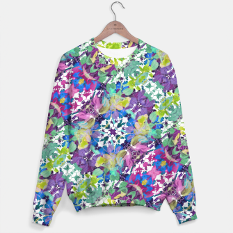 Thumbnail image of Colorful Modern Floral Print Sweater, Live Heroes