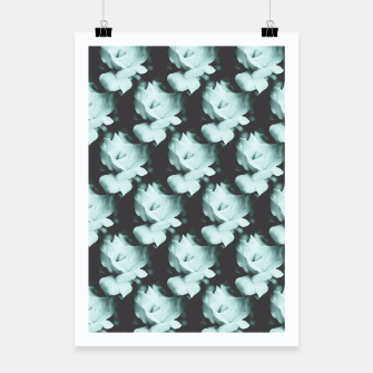 Thumbnail image of Vintage Roses Blue Pattern Poster, Live Heroes