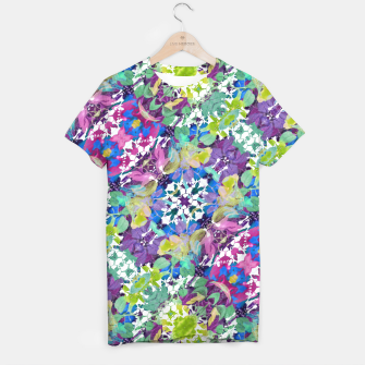 Miniaturka Colorful Modern Floral Print T-shirt, Live Heroes