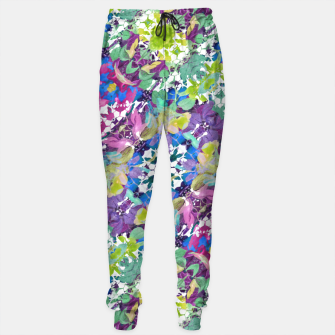 Thumbnail image of Colorful Modern Floral Print Sweatpants, Live Heroes