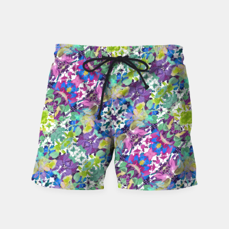 Thumbnail image of Colorful Modern Floral Print Swim Shorts, Live Heroes