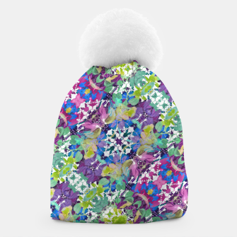Thumbnail image of Colorful Modern Floral Print Beanie, Live Heroes