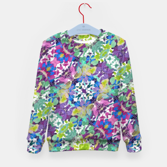 Thumbnail image of Colorful Modern Floral Print Kid's Sweater, Live Heroes