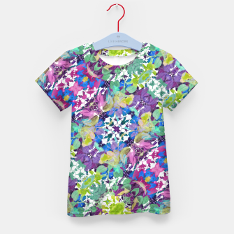 Thumbnail image of Colorful Modern Floral Print Kid's T-shirt, Live Heroes