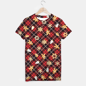 Miniatur Gingerbread Red T-shirt, Live Heroes