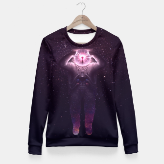 Thumbnail image of The mind blown Fitted Waist Sweater, Live Heroes