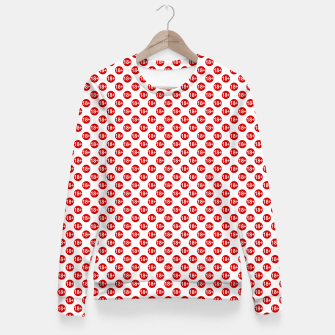 Miniaturka Sexy red and white polka dot Fitted Waist Sweater, Live Heroes