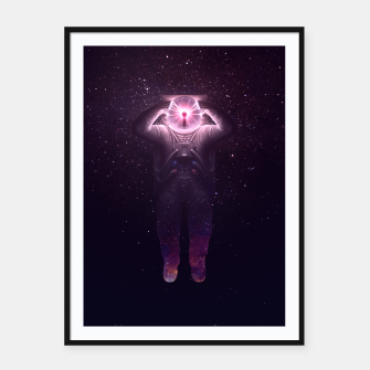 Thumbnail image of The mind blown Framed poster, Live Heroes