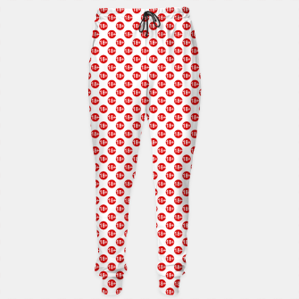 Thumbnail image of Sexy red and white polka dot Sweatpants, Live Heroes