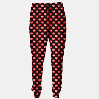Thumbnail image of Sexy red and black polka dot Sweatpants, Live Heroes