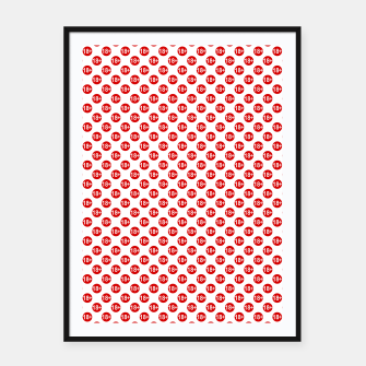 Imagen en miniatura de Sexy red and white polka dot Framed poster, Live Heroes