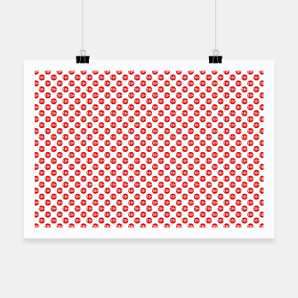 Miniaturka Sexy red and white polka dot Poster, Live Heroes