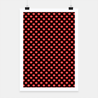 Miniaturka Sexy red and black polka dot Poster, Live Heroes
