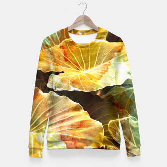 Thumbnail image of Macro Leaves Fitted Waist Sweater, Live Heroes
