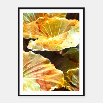 Thumbnail image of Macro Leaves Framed poster, Live Heroes