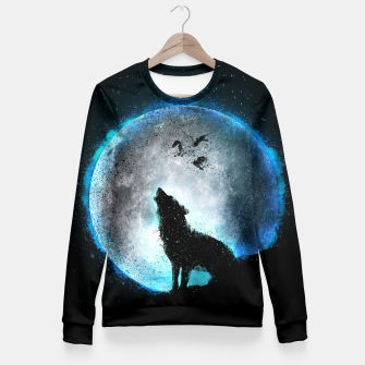 Thumbnail image of Midnight Howl Taillierte Sweatshirt, Live Heroes