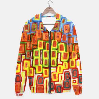 Miniature de image de Squeezed together Squares Pattern  Hoodie, Live Heroes