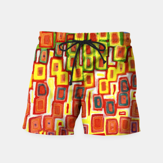 Miniatur Squeezed together Squares Pattern  Swim Shorts, Live Heroes