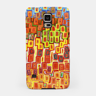 Miniatur Squeezed together Squares Pattern  Samsung Case, Live Heroes