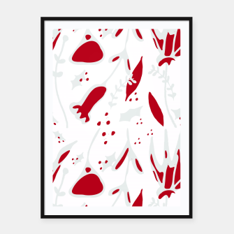Thumbnail image of winter floral white Framed poster, Live Heroes