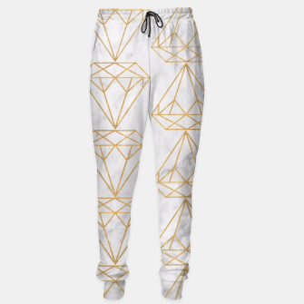 Imagen en miniatura de Gold Leaf Diamonds on Marble Background Sweatpants, Live Heroes