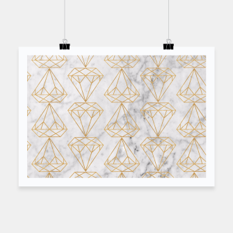 Miniaturka Gold Leaf Diamonds on Marble Background Poster, Live Heroes