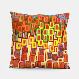 Miniatur Squeezed together Squares Pattern  Pillow, Live Heroes