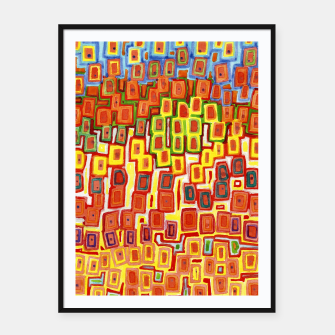 Miniatur Squeezed together Squares Pattern  Framed poster, Live Heroes