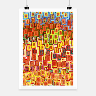 Miniaturka Squeezed together Squares Pattern  Poster, Live Heroes
