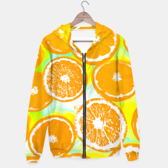 Miniature de image de juicy orange pattern abstract with yellow and green background Hoodie, Live Heroes