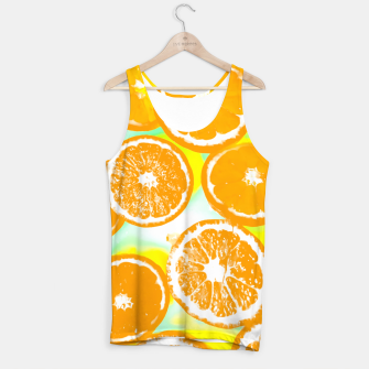 juicy orange pattern abstract with yellow and green background Tank Top imagen en miniatura