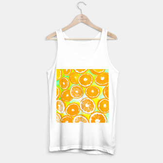 Miniaturka juicy orange pattern abstract with yellow and green background Tank Top regular, Live Heroes