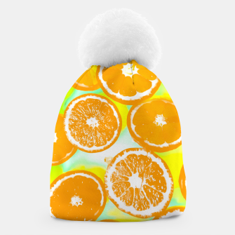 Imagen en miniatura de juicy orange pattern abstract with yellow and green background Beanie, Live Heroes
