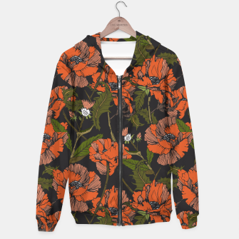 Miniature de image de Autumnal flowering of poppies Sudadera con capucha, Live Heroes