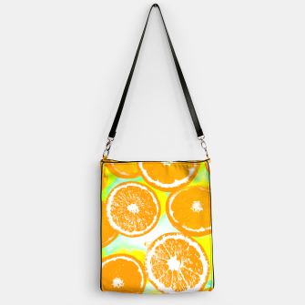 Miniaturka juicy orange pattern abstract with yellow and green background Handbag, Live Heroes