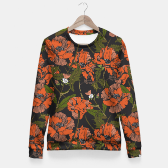 Miniature de image de Autumnal flowering of poppies Sudadera entallada, Live Heroes