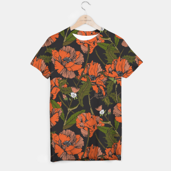 Miniatur Autumnal flowering of poppies Camiseta, Live Heroes