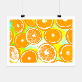 Miniaturka juicy orange pattern abstract with yellow and green background Poster, Live Heroes
