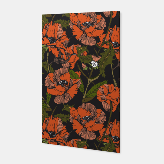 Miniaturka Autumnal flowering of poppies Canvas, Live Heroes