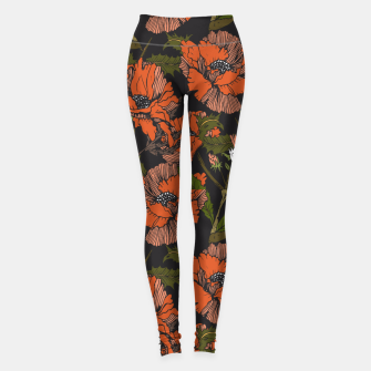 Miniature de image de Autumnal flowering of poppies Leggings, Live Heroes