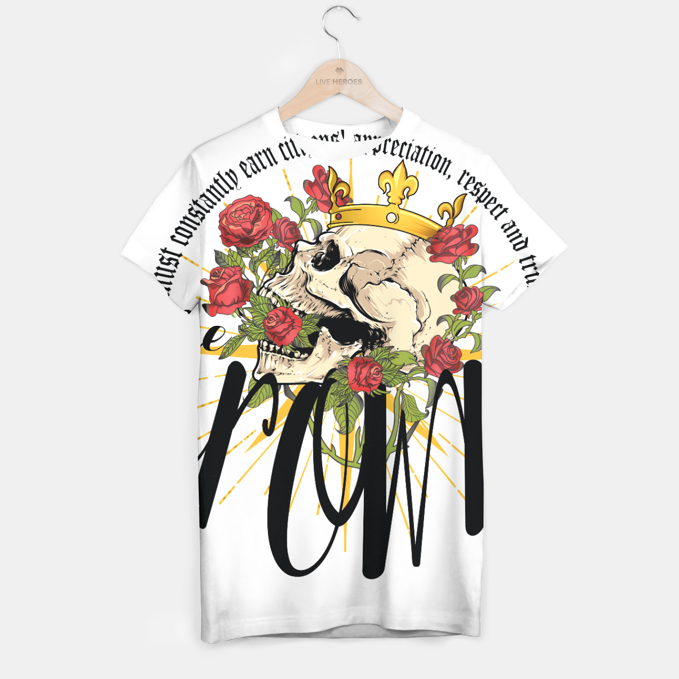 Image of the crown T-shirt - Live Heroes
