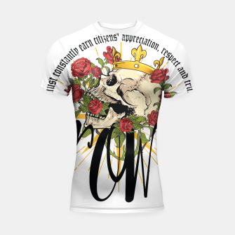 Thumbnail image of the crown Shortsleeve Rashguard, Live Heroes