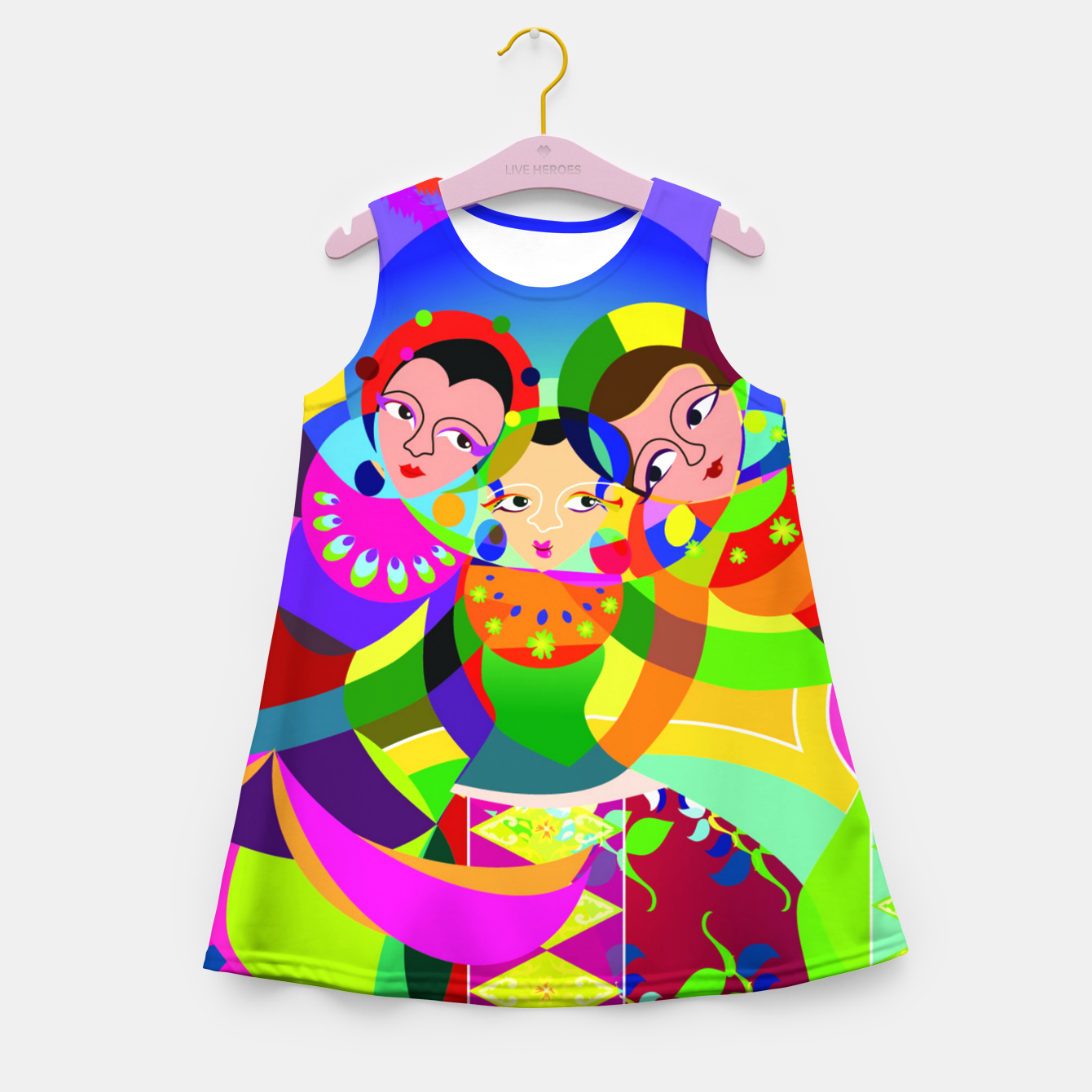 Image of traditional batavia dance  Girl's Summer Dress - Live Heroes