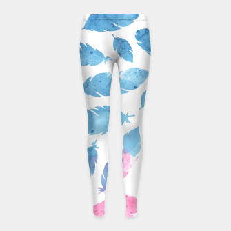 Thumbnail image of Peaceful Feather Girl's Leggings, Live Heroes