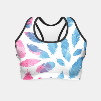 Thumbnail image of Peaceful Feather Crop Top, Live Heroes
