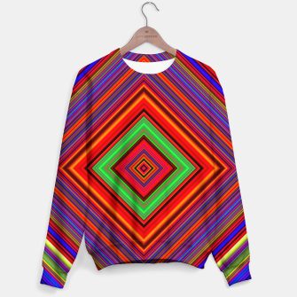 Thumbnail image of Multicolored Line Burst Pattern Sweater, Live Heroes