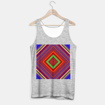 Miniature de image de Multicolored Line Burst Pattern Tank Top regular, Live Heroes
